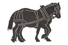 Two Horses Walking DXF File