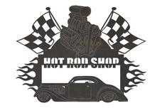 Hot Rod Shop Sign