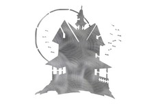 Spooky Haunted House DXF File