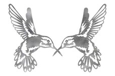 Two Hummingbirds DXF File