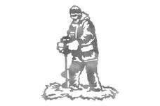 Ice Fisherman Stock Art