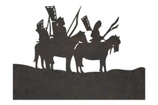 Indian On Horses DXF File