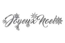 Joyeux Noel Cursive Script DXF File