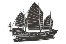 Junk Ship DXF File