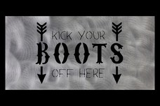 Kick Your Boots Wall Art