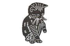 Sitting Kitten DXF File