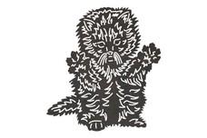 Fluffy Kitten DXF File