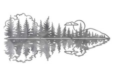 Calm Lake and Trees DXF File