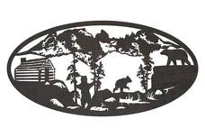 Bear's Landscape Oval Insert