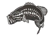 Largemouth Bass Side-Profile DXF File