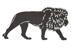 Walking Lion DXF File