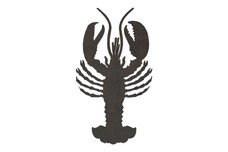 Lobster Top View DXF File