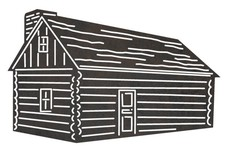 Log Cabin Chimney DXF File