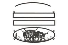 Longhorn Oval Sign