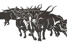 Texas Longhorn Stampede DXF File