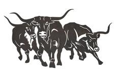 Longhorn Stampede DXF File