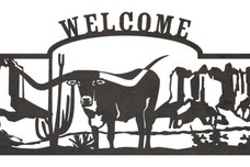 Longhorn Welcome Sign