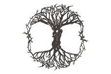 Lovers Tree of Life Stock Art