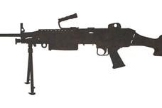 M249 LMG Side-Profile DXF File
