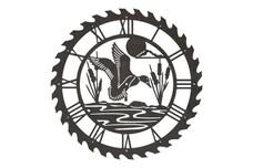 Mallard Sawblade Clock