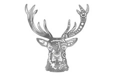 Mandala Deer Face DXF File