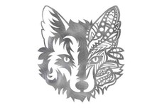 Mandala Fox Face DXF File