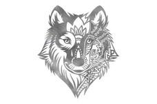 Mandala Wolf Face DXF File