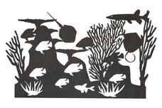 Diverse Marine Life DXF File