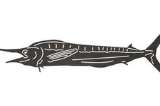 Open-Mouth Marlin DXF File