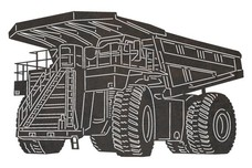 Giant Mining Truck DXF File