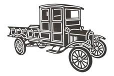 Old Model T Truck DXF File