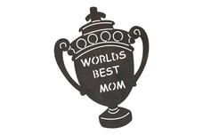 Mom Trophy DXF File