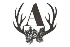 Antler Monogram (A to F) Wall Art