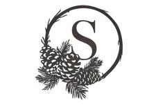 Wreath Monogram (S to Z) Wall Art