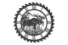 Moose Sawblade Clock
