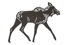 Walking Female Moose DXF File