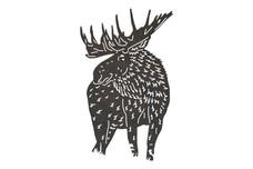 Antlered Moose DXF File