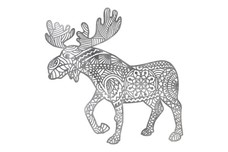 Abstract-Bodied Moose DXF File