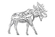 Walking Moose DXF File