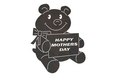 Mother's Day Bear  DXF File