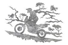 Motocross Rider DXF File