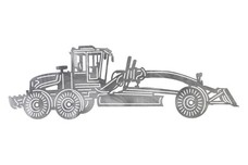 Motor Grader Side-View DXF File