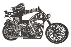 Motorcycle Rider DXF File