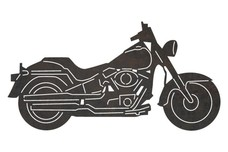 Motorcycle Side-Profile DXF File