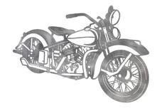 Harley Davidson Motorcycle DXF File