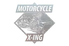 Motorcycle X-Ing Sign