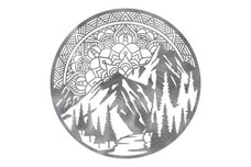 Mountain Mandala Wall Art