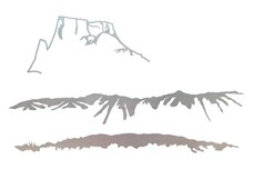 Mountain Scenes DXF File