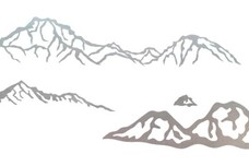 Mountains DXF File