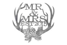 Mr & Mrs Antlers Wall Art